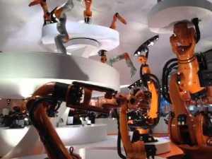 kuka robot dance hannover messe