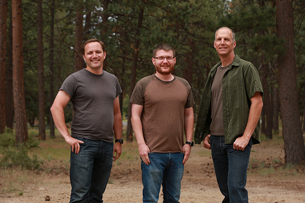 Chillin… the three founders of Tend.ai – from left: James Gentes, Mark Silliman, and Robert Kieffer