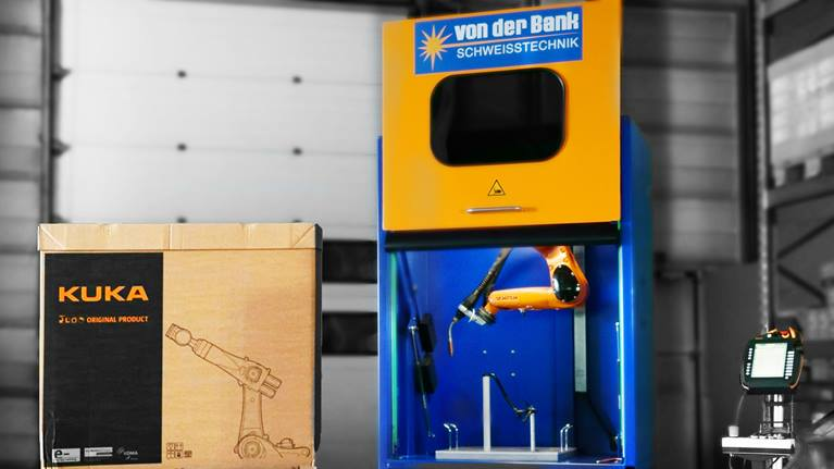 Paul von der Bank invents 'world's smallest' robotic arc welding cell using Kuka industrial robot