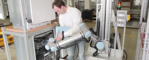 universal robots product testing system