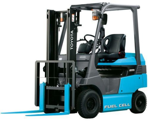 toyota fuel cell forklift truck