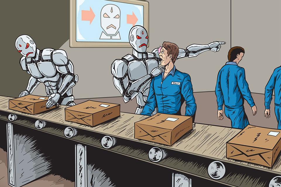 robot replaces human