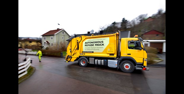 Volvo testing driverless refuse collection trucks