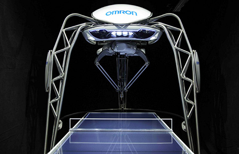 Omron says its table tennis-playing robot is first of its kind in the world