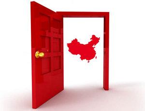 door to china