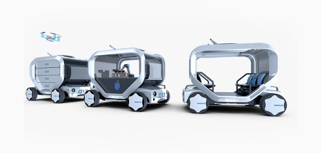 Pix unveils autonomous car which also functions as a coffee machine