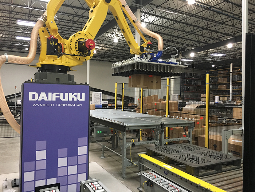 Daifuku Wynright's automated de-palletising system