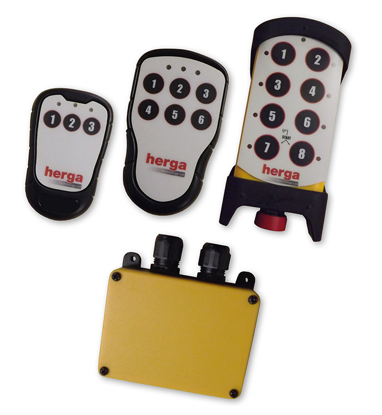 Herga adds 2.4 GHz transmitter-receiver system for industrial control applications