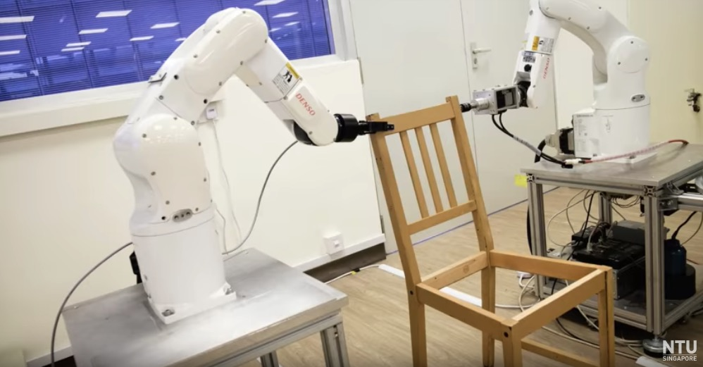 Singapore university develops robotic system to build Ikea furniture