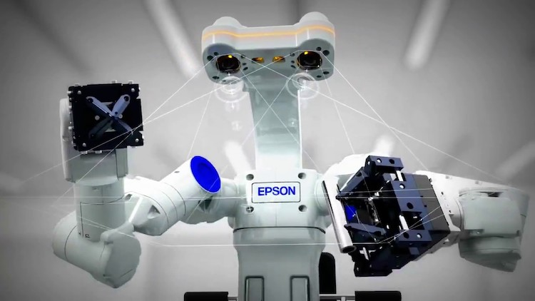 Epson brings 'WorkSense' dual-armed robot to Europe