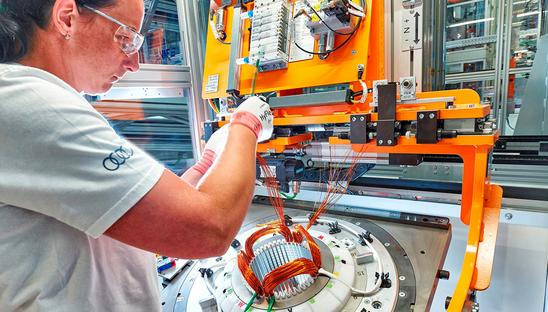 Audi starts series production of electric motors in Hungary