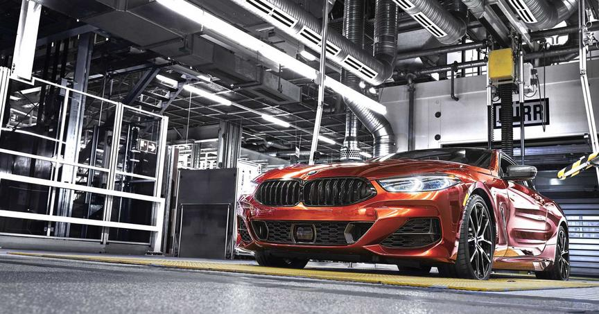 New BMW 8 Series Coupé in production at Dingolfing plant in Germany