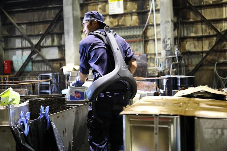 Atoun introduces powered exoskeleton into food recycling business