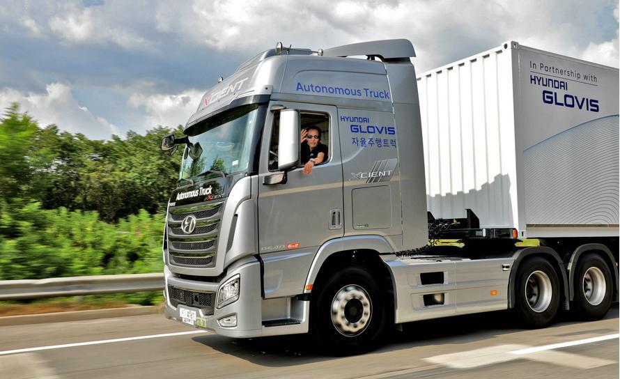 Hyundai makes South Korea's first autonomous truck journey