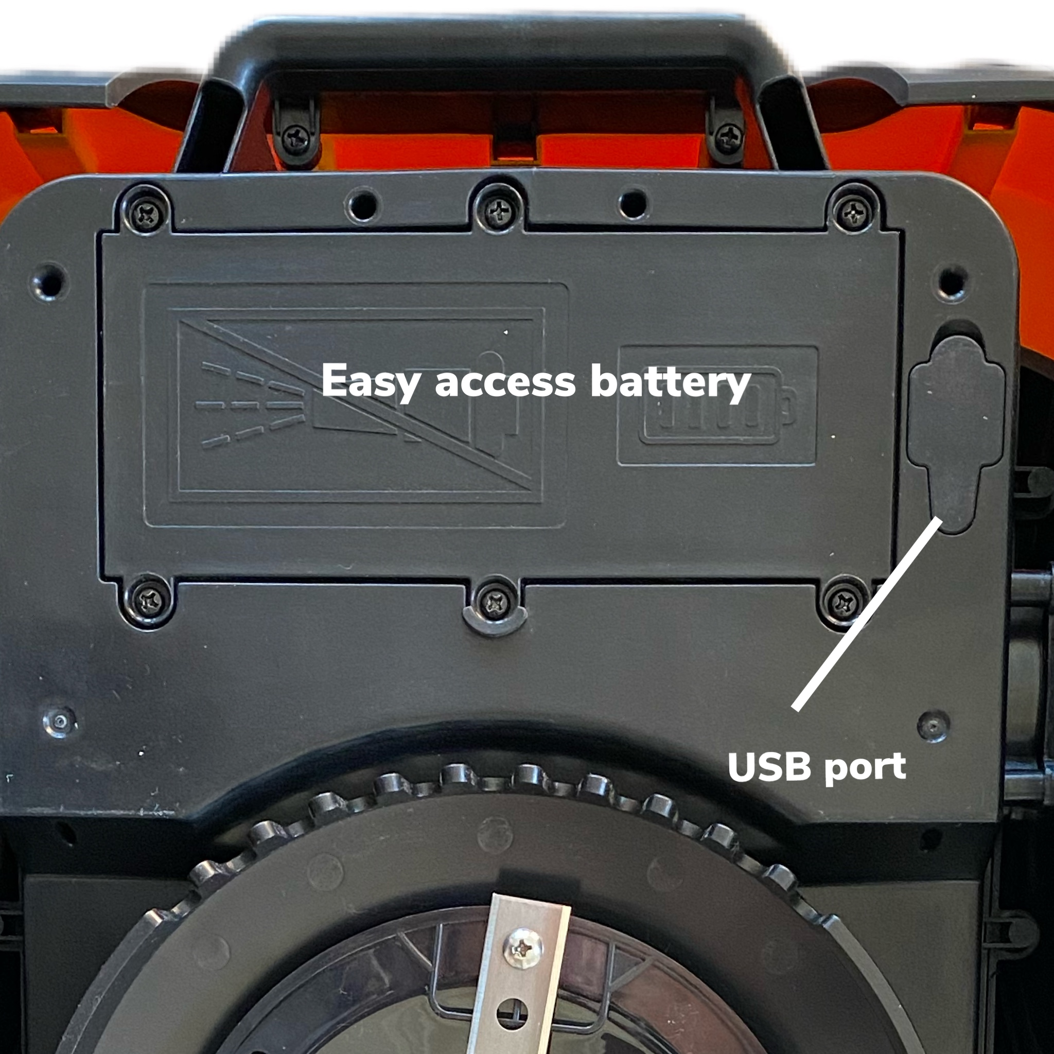 Easy access battery
