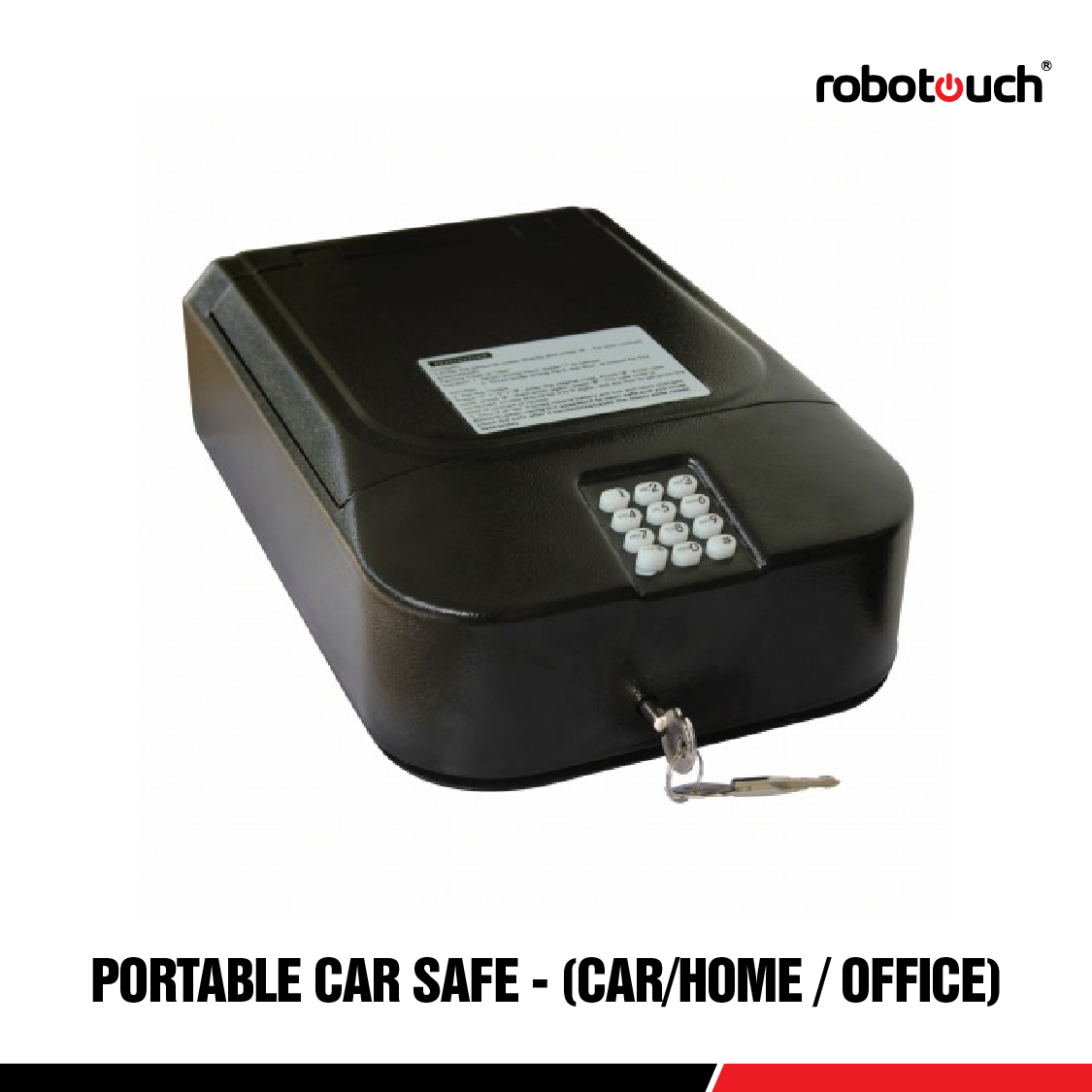 Robotouch Electronic Locker For Car/Home/office with Anti Theft Steel Rope-0