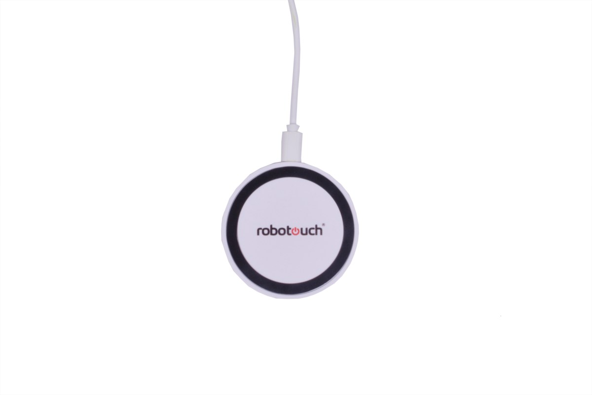 Qi Wireless Charging Charger Pad with Qi Wireless Charging Receiver Kit for Apple iPhone 5/5c /5s/6/6s/6 Plus/6S plus (M1 white)-542