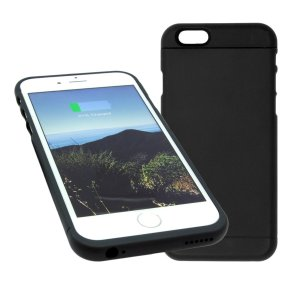 Touch Charge Wireless Charging Case Built in Qi Compatible Wireless Charger with Removable Lightning Connector for iphone 6/6s- Color Black-0