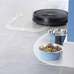 Virtual Wall prevents Roomba Hitting Pet Bowl