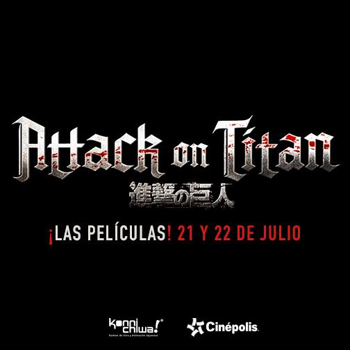 Gran Maratón de Attack on Titan en Cinépolis.