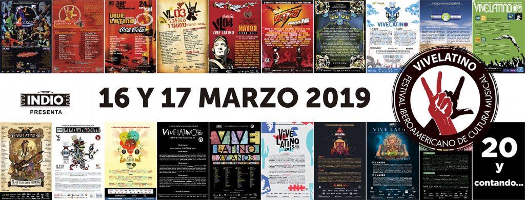20 años del festival Iberoamericano de Cultura Musical Vive Latino.