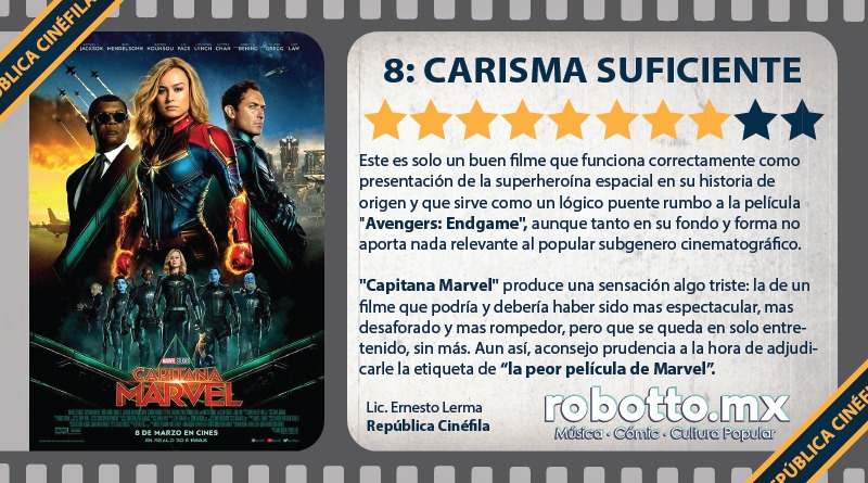 Reseña Capitana Marvel