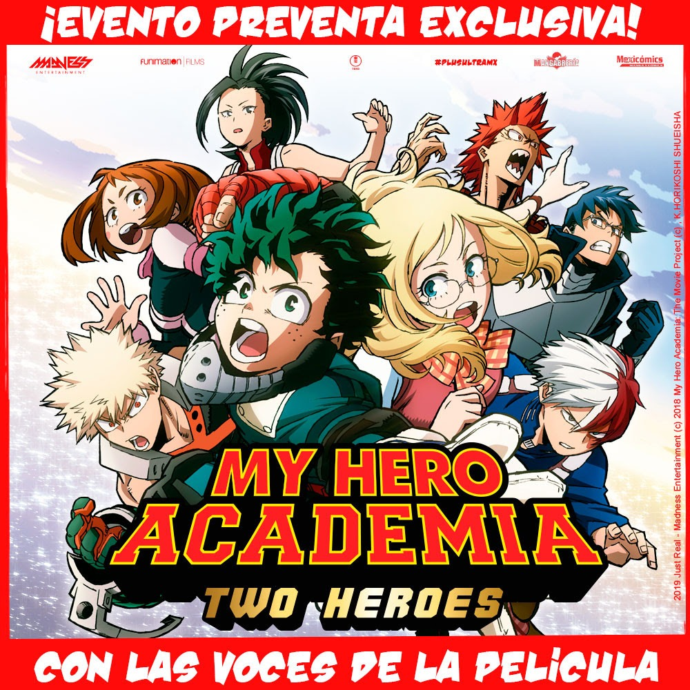 "Preventa del BluRay ""My hero Academia, Two heroes"" con Doblaje Mexicano"