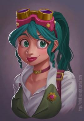 Steampunk Girl by Shelly Soneja