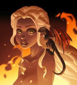 Daenerys Targaryen fan art by Shelly Soneja