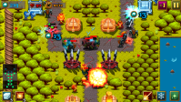 Warrior Defense screenshot. UI by Shelly Soneja, sprites and tiles by Marvin Del Mundo
