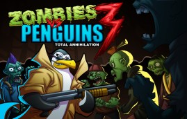 Zombies vs Penguins Title Screen - by Marvin del Mundo