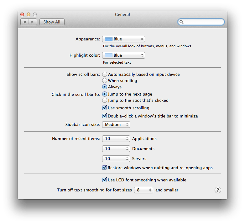 Debugging a few defective defaults in Lion (2/3)