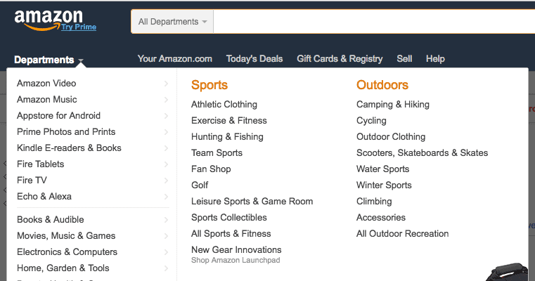 finding your own profitable niche, Amazon categories