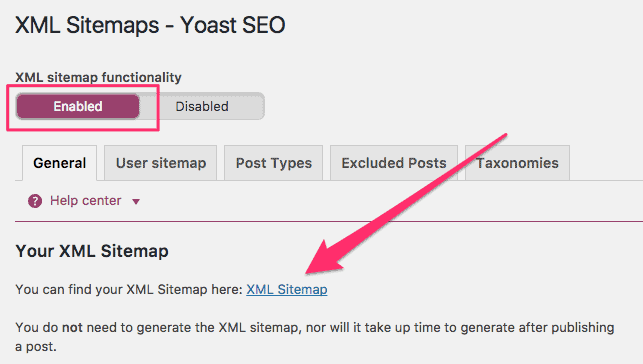 Adding a sitemap for a WordPress site