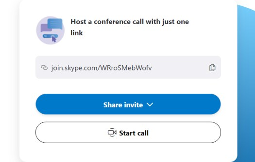 Skype Meet Now Screen Shot