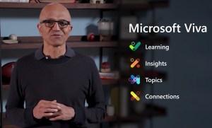 Satya Nadella announcing Microsoft Viva