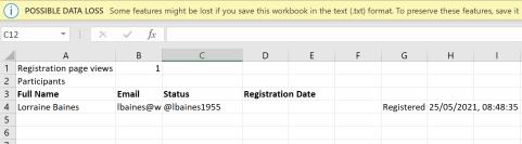 Webinar Registrations
