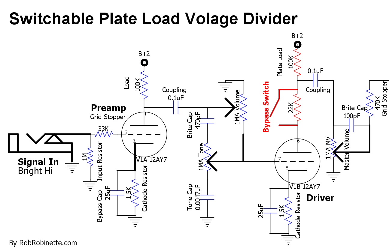 Dumble Overdrive Schematic