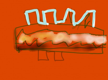 Hotdog by Nyerdet - Medium: iPad, Paper by 53