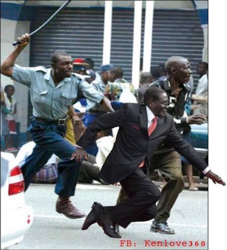 policemugabe  #MugabeFalls