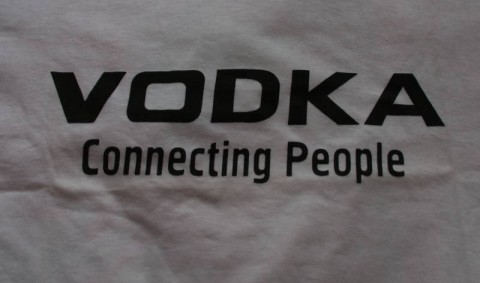 T-shirt Vodka Connecting People
