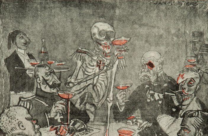 de dood heeren ad fundum tot het bittere eind (detail)