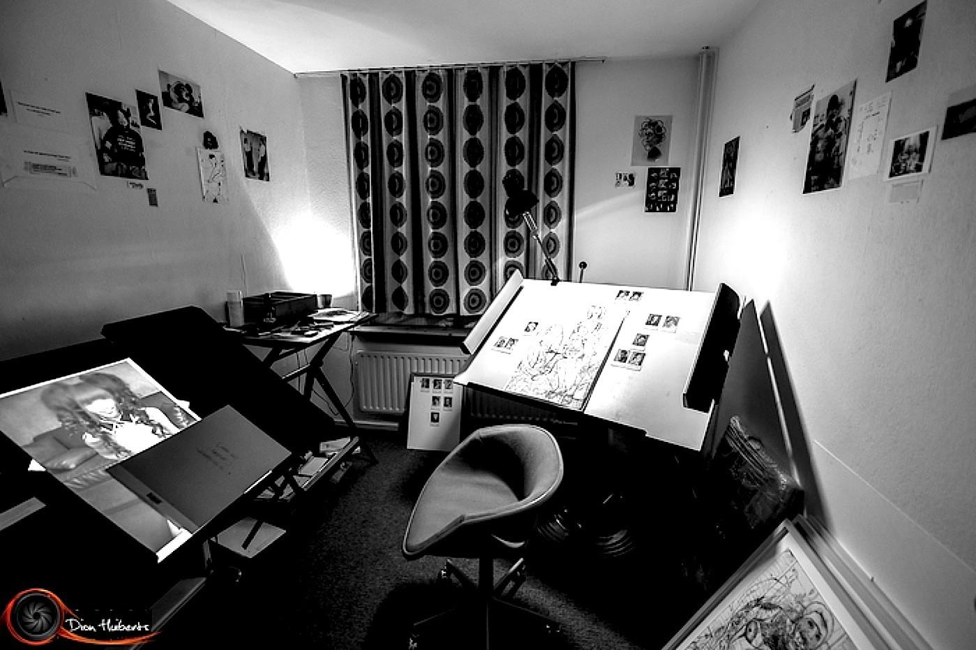Werkruimte van Arte Colder