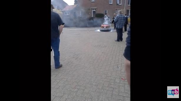 Botsautobrand in Eibergen