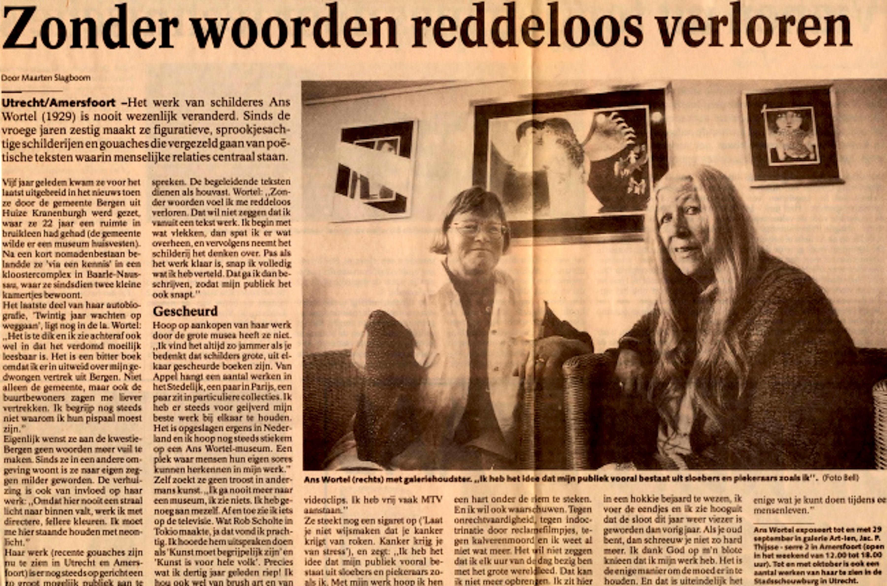 Utrechts Nieuwsblad, 3 september 1996