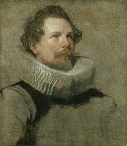 Van Dyck – Studie voor het hoofd van een van de regenten van Brussel