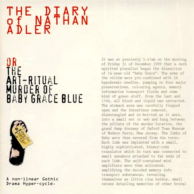 THE DIARY OF NATHAN ADLER OR THE ART-RITUAL MURDER OF BABY GRACE BLUE (foto bowiesongs)