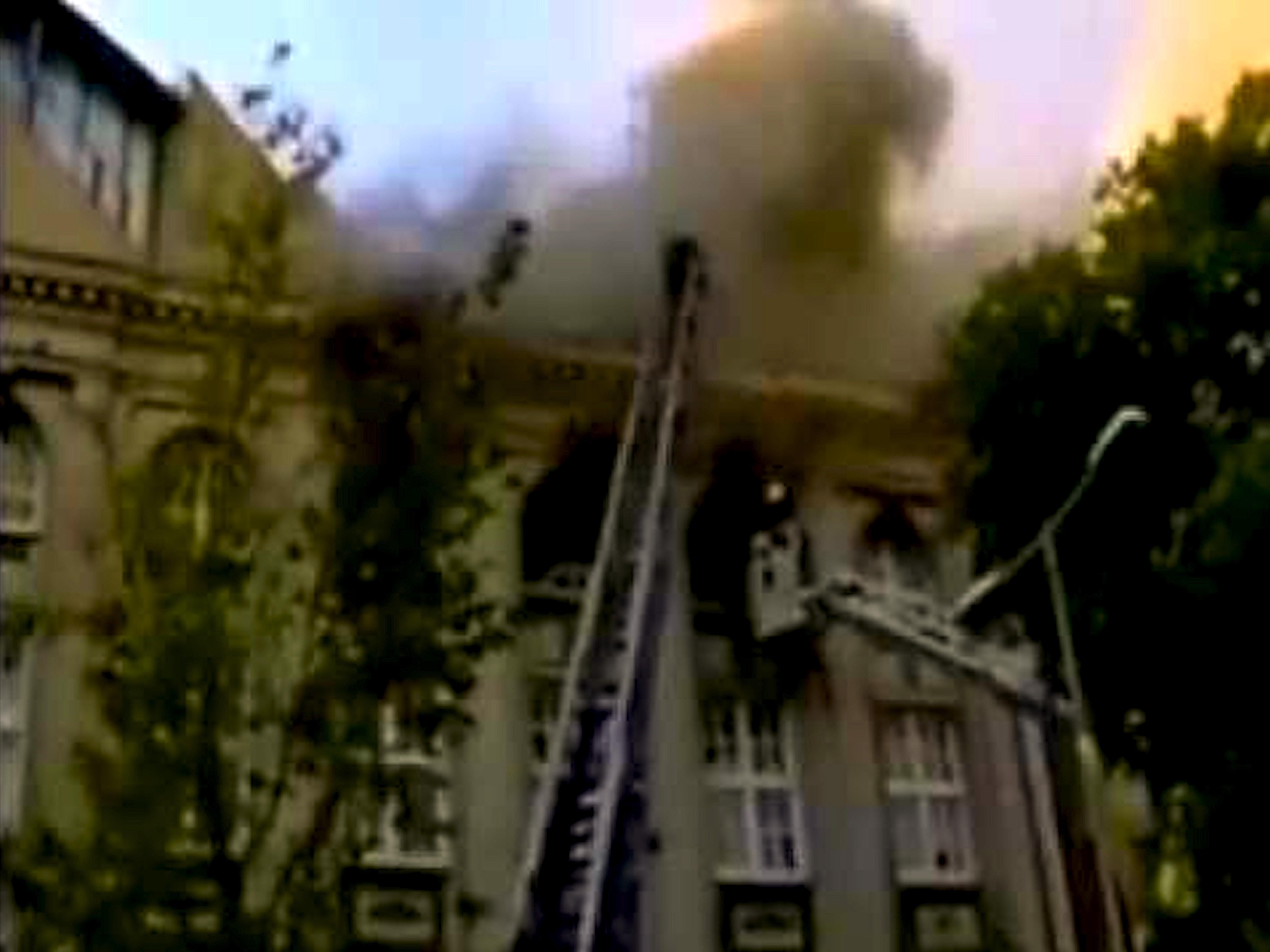 Brand in de RoXY 21 juni 1999 (foto YouTube)