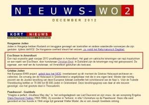 Nieuws - WO2, 6 december 2012