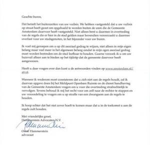 Oscar Hammerstein - Brief aan de buren